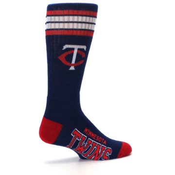 Image of Minnesota Twins Men's Athletic Crew Socks (side-1-23)