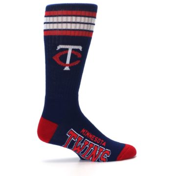 Image of Minnesota Twins Men's Athletic Crew Socks (side-1-24)