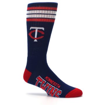 Image of Minnesota Twins Men's Athletic Crew Socks (side-1-25)