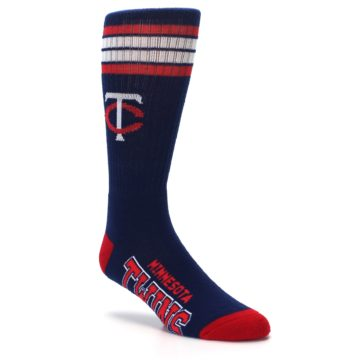 Image of Minnesota Twins Men's Athletic Crew Socks (side-1-27)