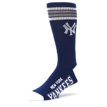Image of New York Yankees Men's Athletic Crew Socks (side-2-09)