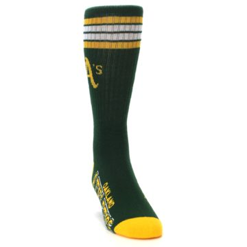 Image of Oakland Athletics Men's Athletic Crew Socks (side-1-front-03)