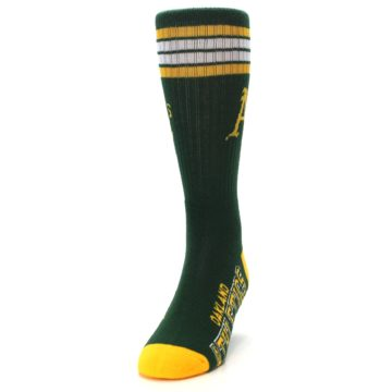 Image of Oakland Athletics Men's Athletic Crew Socks (side-2-front-06)