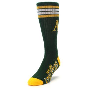 Image of Oakland Athletics Men's Athletic Crew Socks (side-2-front-07)
