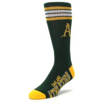 Image of Oakland Athletics Men's Athletic Crew Socks (side-2-front-08)