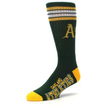 Image of Oakland Athletics Men's Athletic Crew Socks (side-2-09)