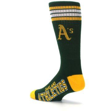 Image of Oakland Athletics Men's Athletic Crew Socks (side-2-back-14)
