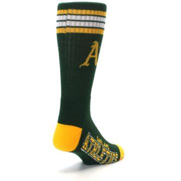 Image of Oakland Athletics Men's Athletic Crew Socks (side-1-back-21)