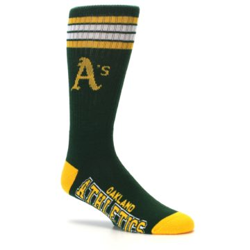 Image of Oakland Athletics Men's Athletic Crew Socks (side-1-26)