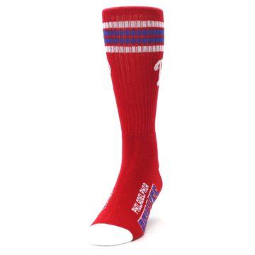 Image of Philadelphia Phillies Men's Athletic Crew Socks (side-2-front-06)