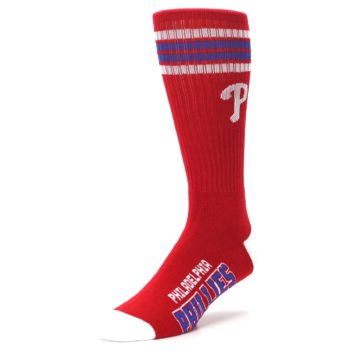 Image of Philadelphia Phillies Men's Athletic Crew Socks (side-2-front-08)