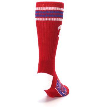 Image of Philadelphia Phillies Men's Athletic Crew Socks (side-1-back-20)