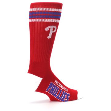 Image of Philadelphia Phillies Men's Athletic Crew Socks (side-1-23)