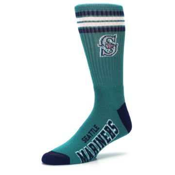 Image of Seattle Mariners Men's Athletic Crew Socks (side-2-09)