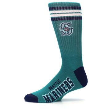 Image of Seattle Mariners Men's Athletic Crew Socks (side-2-11)
