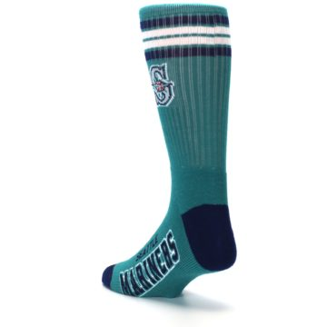 Image of Seattle Mariners Men's Athletic Crew Socks (side-2-back-15)