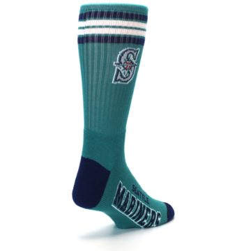 Image of Seattle Mariners Men's Athletic Crew Socks (side-1-back-21)
