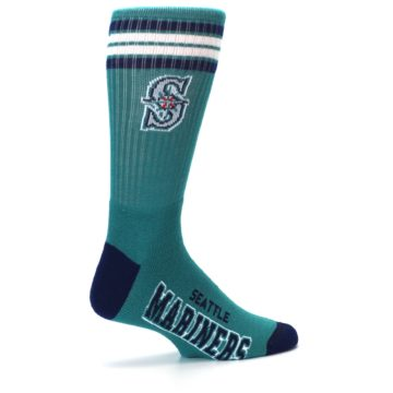 Image of Seattle Mariners Men's Athletic Crew Socks (side-1-23)