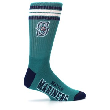 Image of Seattle Mariners Men's Athletic Crew Socks (side-1-24)