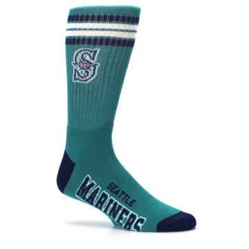 Image of Seattle Mariners Men's Athletic Crew Socks (side-1-25)
