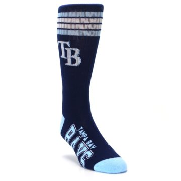 Image of Tampa Bay Rays Men's Athletic Crew Socks (side-1-front-02)