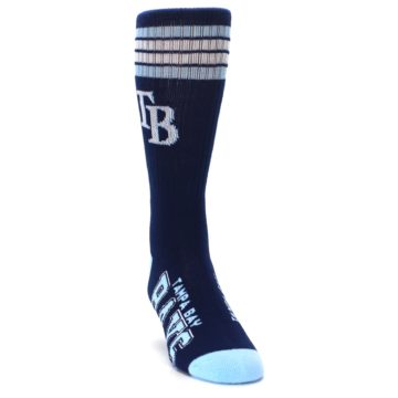 Image of Tampa Bay Rays Men's Athletic Crew Socks (side-1-front-03)