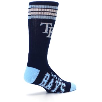 Image of Tampa Bay Rays Men's Athletic Crew Socks (side-1-23)