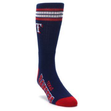 Image of Texas Rangers Men's Athletic Crew Socks (side-1-front-02)