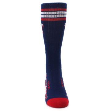 Image of Texas Rangers Men's Athletic Crew Socks (front-04)