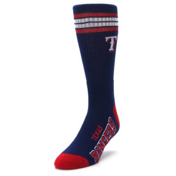 Image of Texas Rangers Men's Athletic Crew Socks (side-2-front-07)
