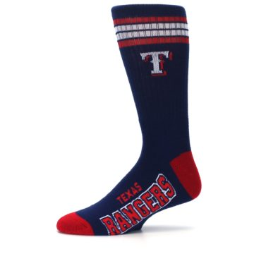 Image of Texas Rangers Men's Athletic Crew Socks (side-2-11)