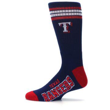 Image of Texas Rangers Men's Athletic Crew Socks (side-2-12)