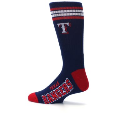 Image of Texas Rangers Men's Athletic Crew Socks (side-2-13)