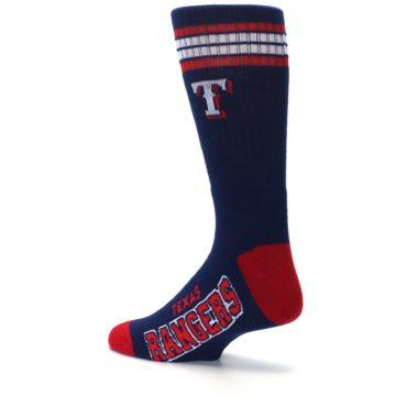 Image of Texas Rangers Men's Athletic Crew Socks (side-2-back-14)