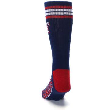 Image of Texas Rangers Men's Athletic Crew Socks (back-17)
