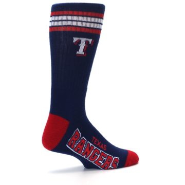 Image of Texas Rangers Men's Athletic Crew Socks (side-1-23)