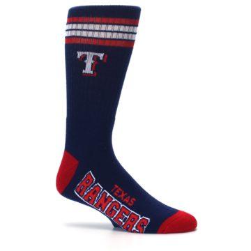 Image of Texas Rangers Men's Athletic Crew Socks (side-1-25)