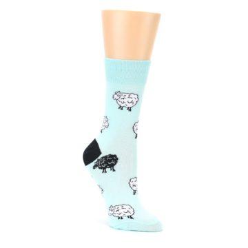Mint-Black-Sheep-Womens-Dress-Socks-Good-Luck-Socks