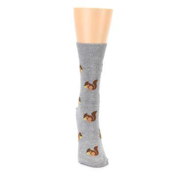 Image of Grey Brown Squirrels Women's Dress Sock (front-04)