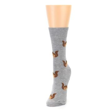 Image of Grey Brown Squirrels Women's Dress Sock (side-2-front-07)