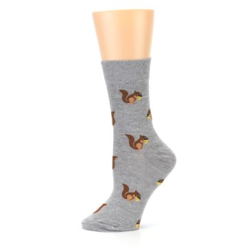 Image of Grey Brown Squirrels Women's Dress Sock (side-2-11)