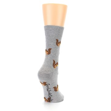 Image of Grey Brown Squirrels Women's Dress Sock (side-1-back-21)