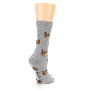 Image of Grey Brown Squirrels Women's Dress Sock (side-1-back-22)