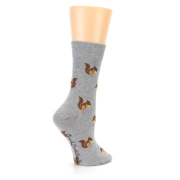 Image of Grey Brown Squirrels Women's Dress Sock (side-1-23)