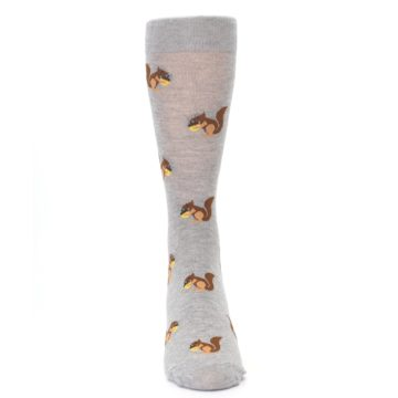 Image of Grey Brown Squirrels  Men's Dress Sock (front-04)