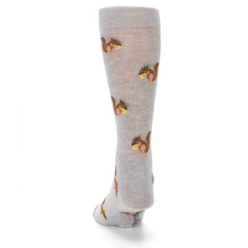Image of Grey Brown Squirrels  Men's Dress Sock (back-17)