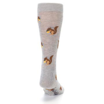 Image of Grey Brown Squirrels  Men's Dress Sock (back-19)