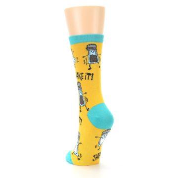 Image of Yellow Teal Salt Shaker Women's Dress Socks (side-2-back-16)