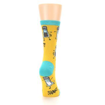 Image of Yellow Teal Salt Shaker Women's Dress Socks (side-1-back-20)