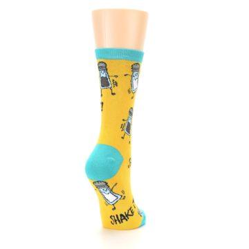 Image of Yellow Teal Salt Shaker Women's Dress Socks (side-1-back-21)
